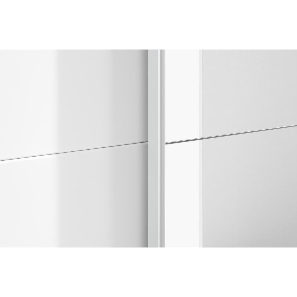 rauch ORANGE Schwebetürenschrank »Loki«, inkl. Meshkorbeinsatz mit 2 Metallkörben, Stoffboxen-Set und zusätzlichen Einlegeböden