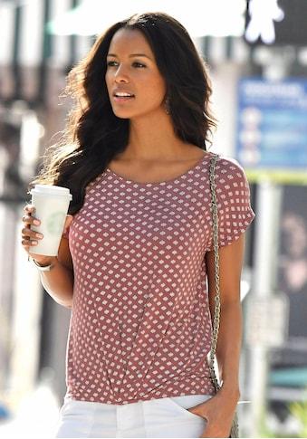 LASCANA T-Shirt, mit Faltendetail am Saum kaufen