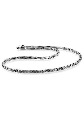 Kuzzoi Silberkette »Männer Zopf Schlangenkette 4mm Oxidiert 925 Silber« kaufen