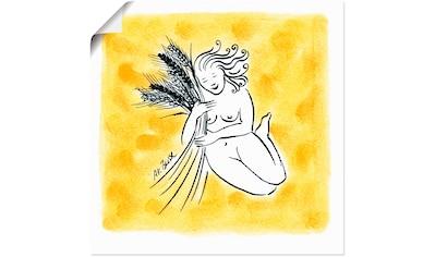 Artland Wandbild »Serie Sternzeichen Jungfrau« kaufen