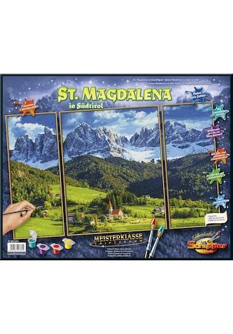 """Schipper Malen nach Zahlen """"Meisterklasse Triptychon, St. Magdalena in Südtirol"""" kaufen"""