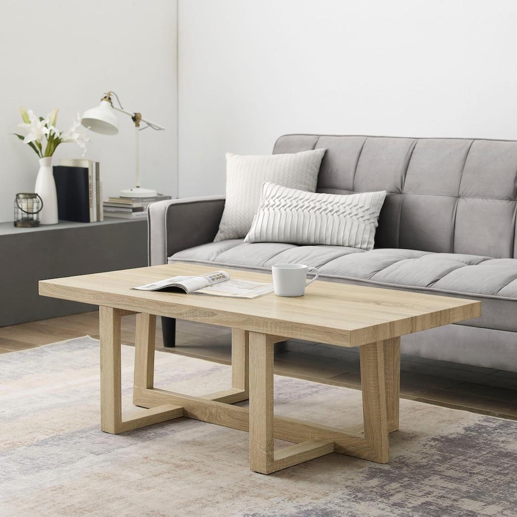 andas Couchtisch »Sloan«, mit einem besonderen Beingestell, mit einer schönen Holzoptik Tischplatte, Design by Morten Georgsen