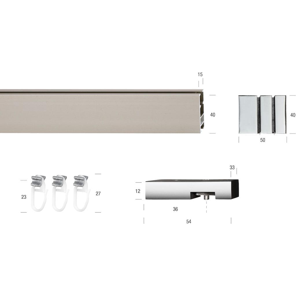 GARESA Gardinenstange »Flat«, 1 läufig-läufig, Wunschmaßlänge, geeignet für Deckenmontage