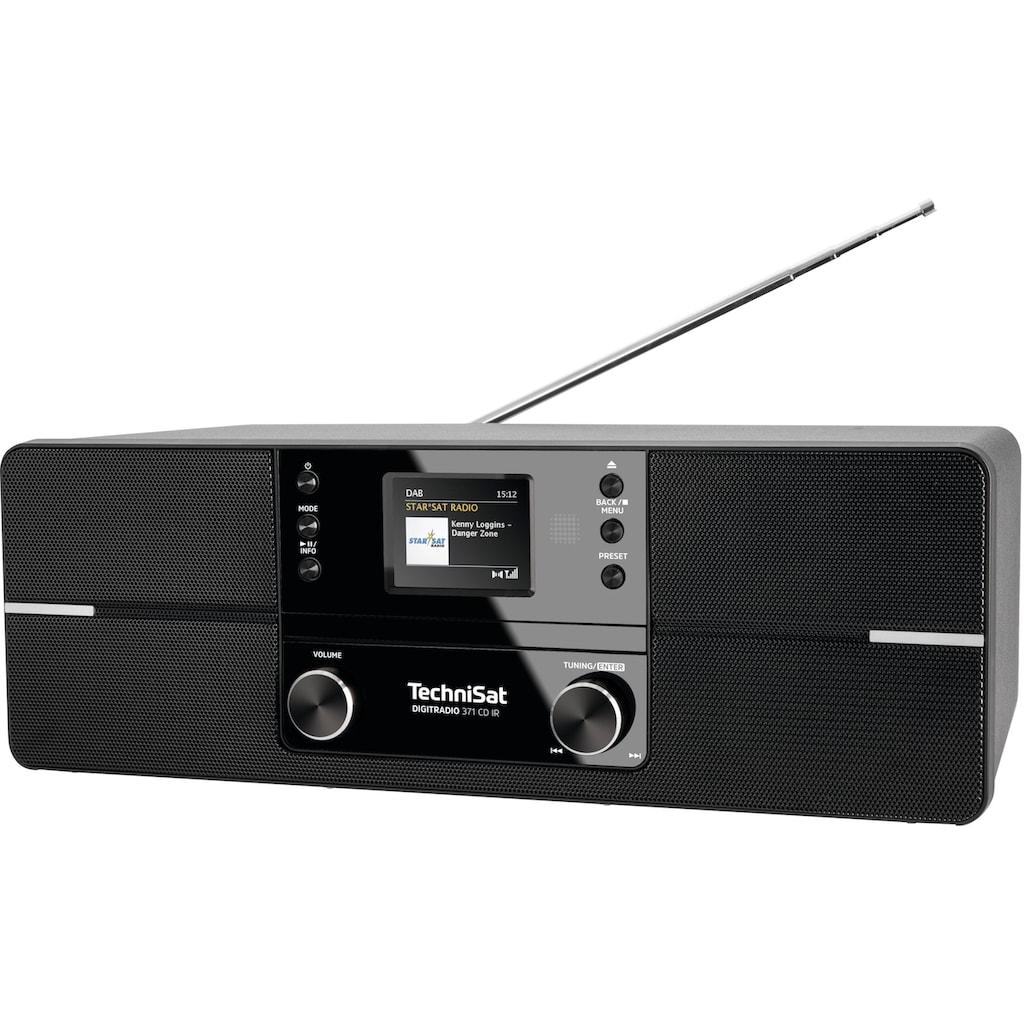 TechniSat Internet-Radio »DIGITRADIO 371 CD IR Stereo«, (Bluetooth-WLAN UKW mit RDS-Digitalradio (DAB+) ), mit DAB+, CD, Bluetooth, Farbdisplay, USB