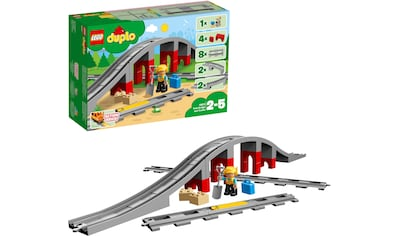 LEGO® Konstruktionsspielsteine »Eisenbahnbrücke und Schienen (10872), LEGO® DUPLO® Town«, (26 St.), Made in Europe kaufen