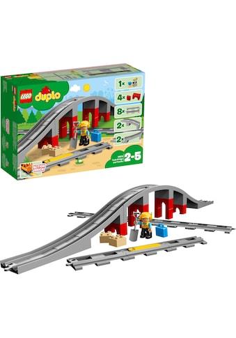 """LEGO® Konstruktionsspielsteine """"Eisenbahnbrücke und Schienen (10872), LEGO® DUPLO® Town"""", (26 - tlg.) kaufen"""