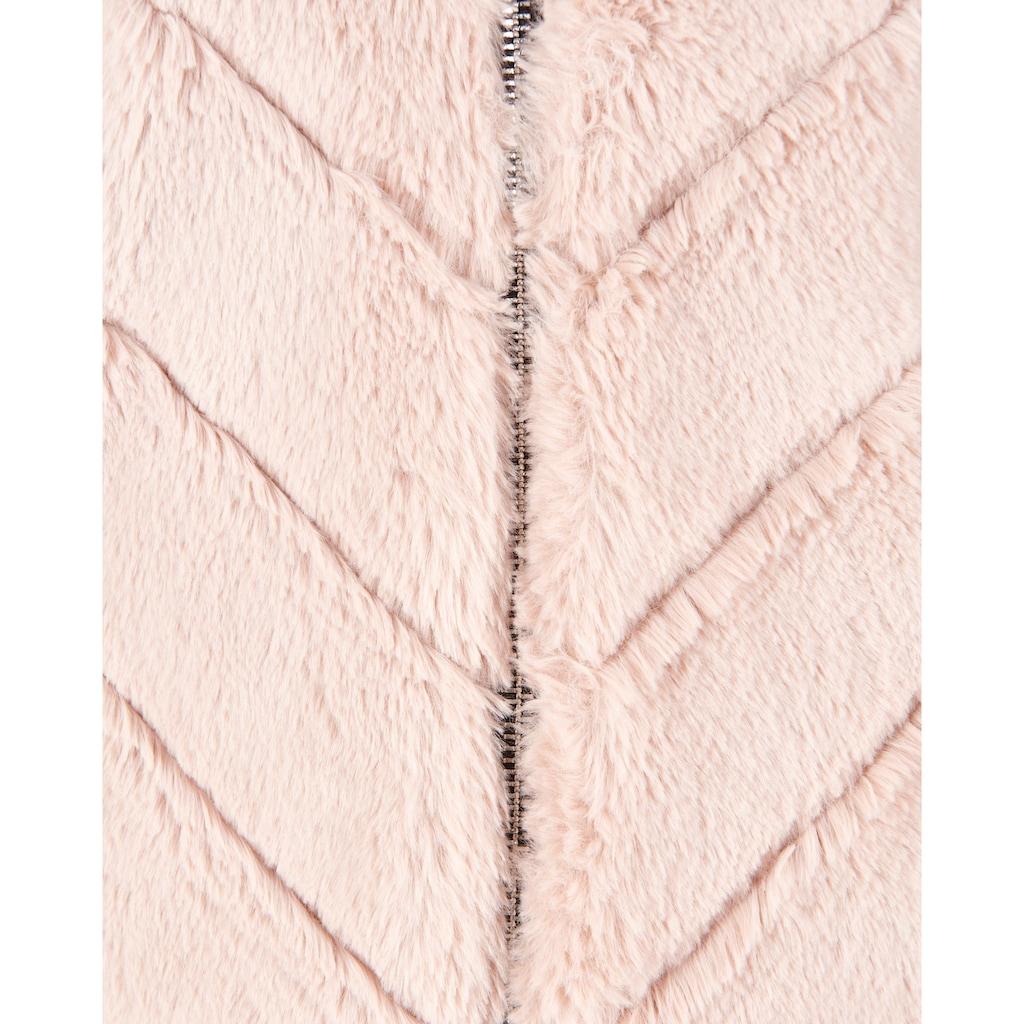 Maze Plüschjacke »Campana«, mit Kapuze