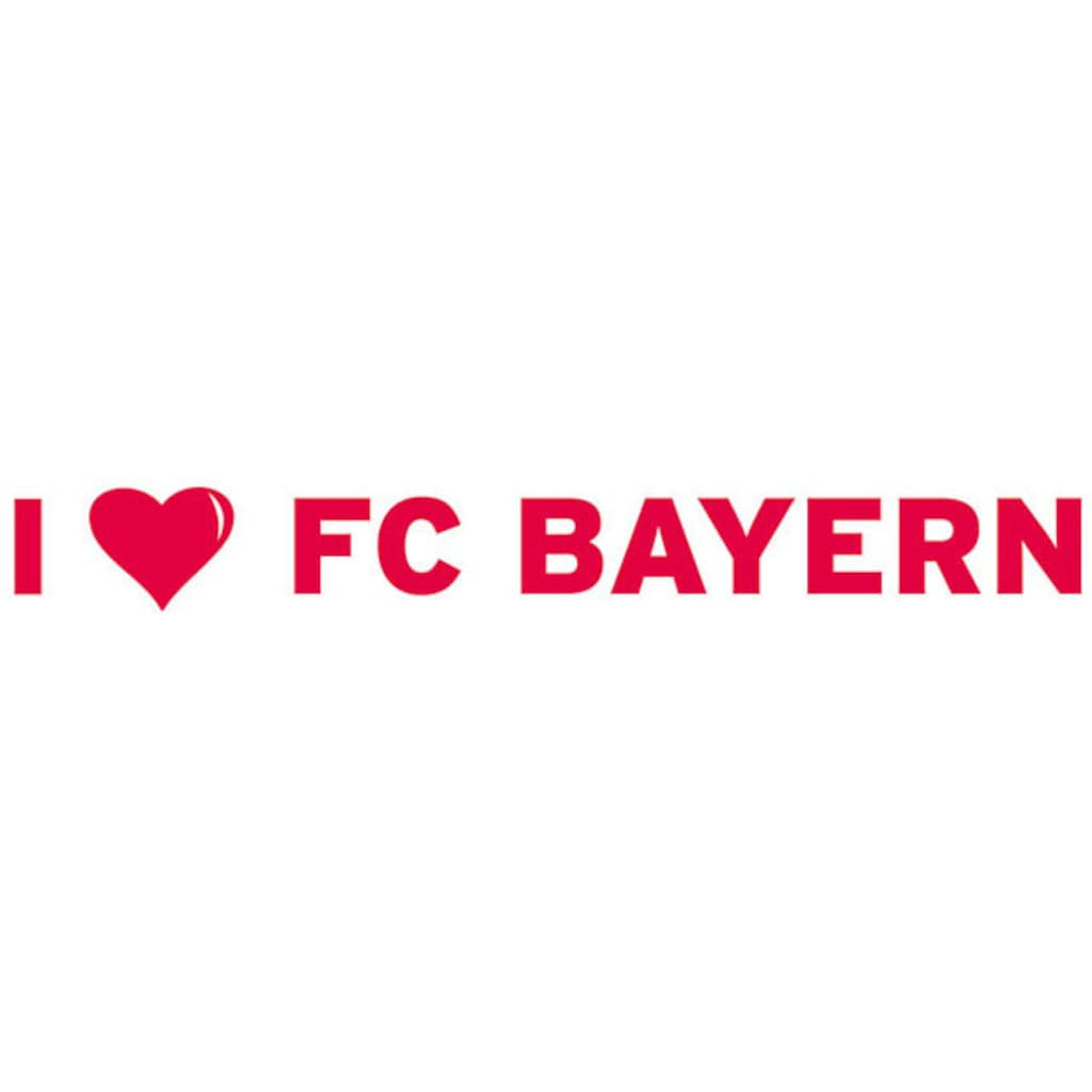 Wall-Art Wandtattoo »I LOVE FC BAYERN«