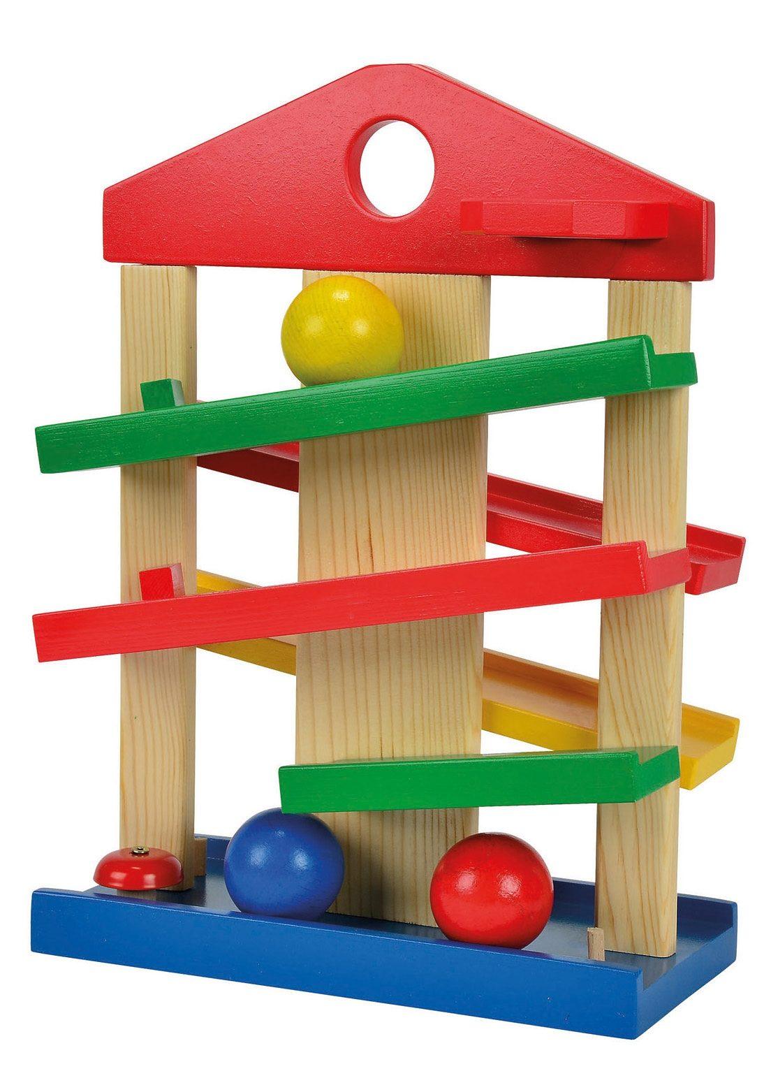Eichhorn Kugelbahn Kugelbahn, Made in Europe bunt Kinder Holzspielzeug