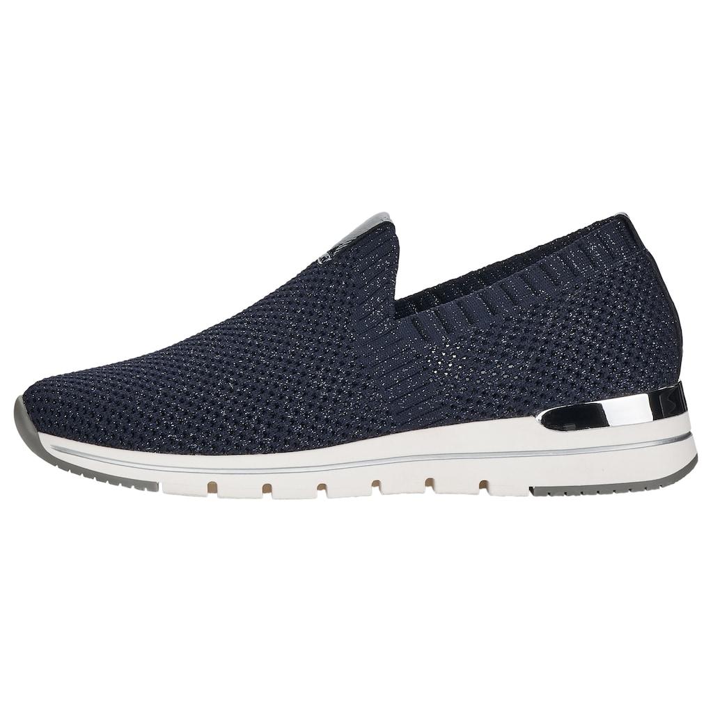 Remonte Slip-On Sneaker, mit feinem Glitzerschimmer
