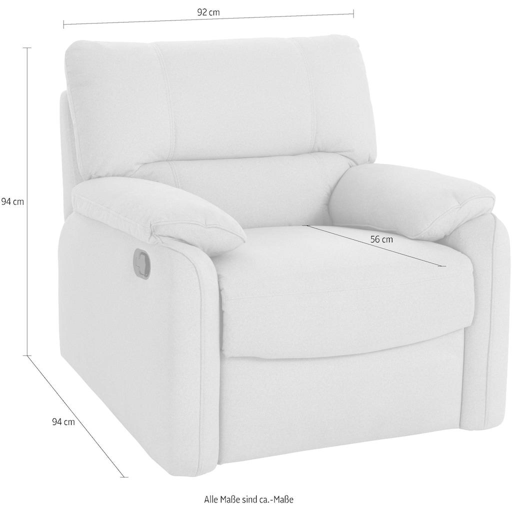 exxpo - sofa fashion Relaxsessel, manuell verstellbar