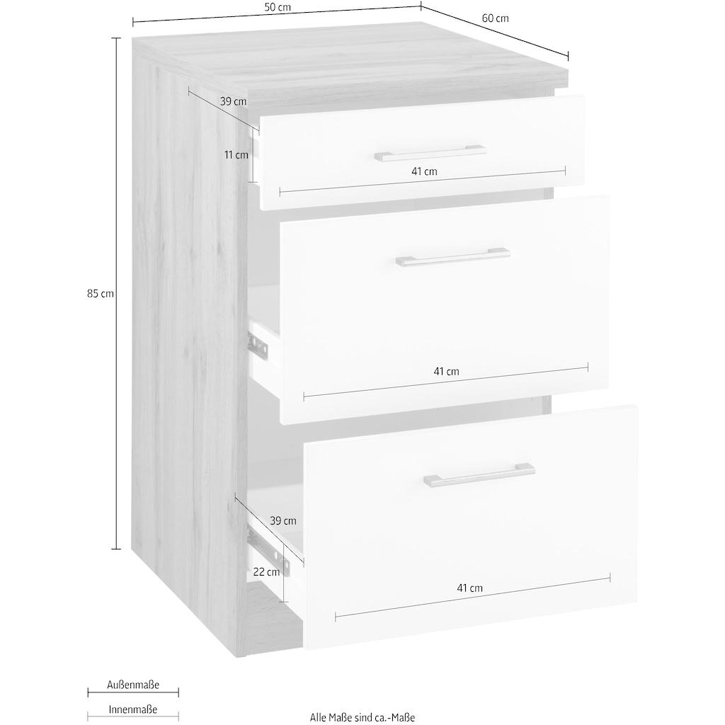 HELD MÖBEL Auszugsunterschrank »Colmar«, 50 cm, mit Metallgriff, alles sofort greifbar dank zwei großer Auszüge