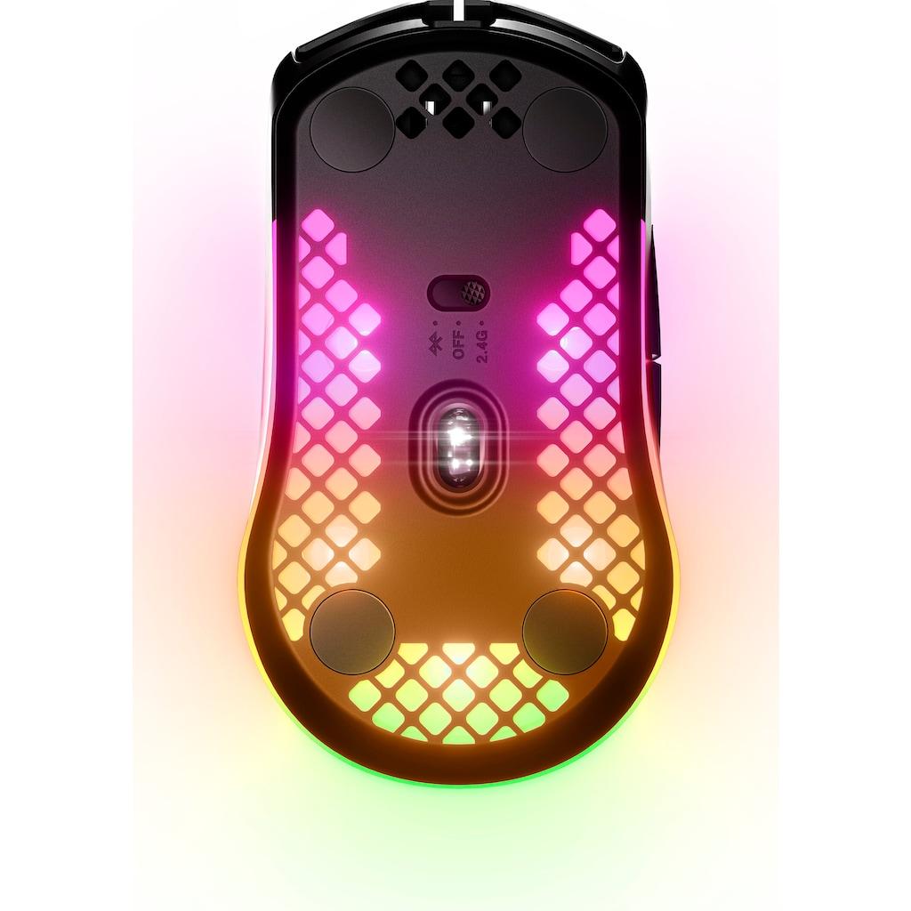 SteelSeries Gaming-Maus »Aerox 3 Wireless Black Gaming Mouse Aerox 3 Wireless Black«, AquaBarrier Schutz