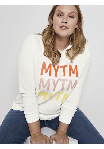 TOM TAILOR MY TRUE ME Sweater »Curvy - Sweater mit Schrift-Print« kaufen