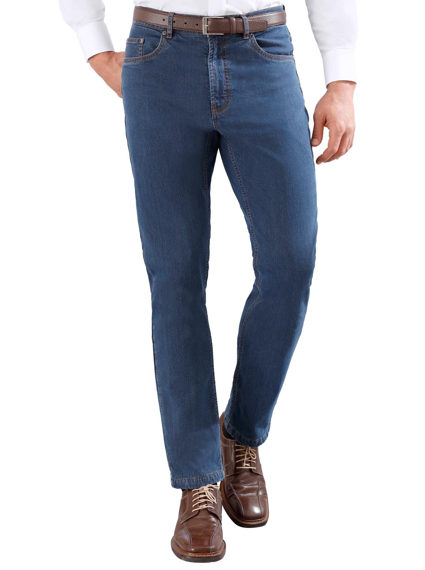 Thermo-Jeans mit wärmeisolierendem Karofutter | Bekleidung > Jeans > Sonstige Jeans | Blau | Classic