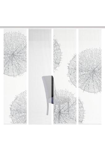 Vision S Schiebegardine »4ER SET CRESTON«, HxB: 260x60, Schiebevorhang 4er Set Digitaldruck kaufen