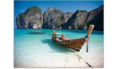 Artland Glasbild »Maya Bay, Koh Phi Phi Leh, Thailand«, Boote & Schiffe, (1 St.) kaufen