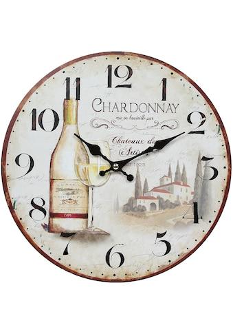 Ambiente Haus Wanduhr »Wanduhr - Wein 28cm« kaufen