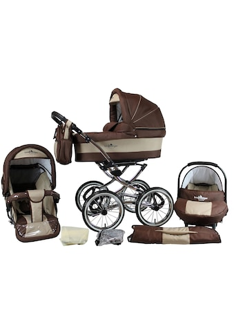 "bergsteiger Kombi - Kinderwagen ""Venedig, coffee & brown, 3in1"", (10 - tlg.) kaufen"