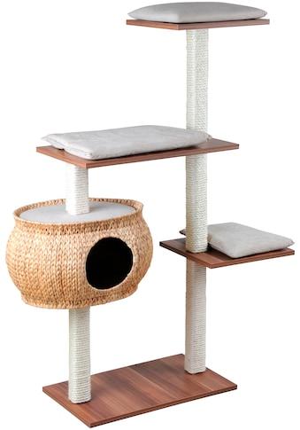 SILVIO DESIGN Kratzbaum »Katzenboy Cosy«, B/T/H: 40/115/130 cm, walnussdekor/sandfarben kaufen