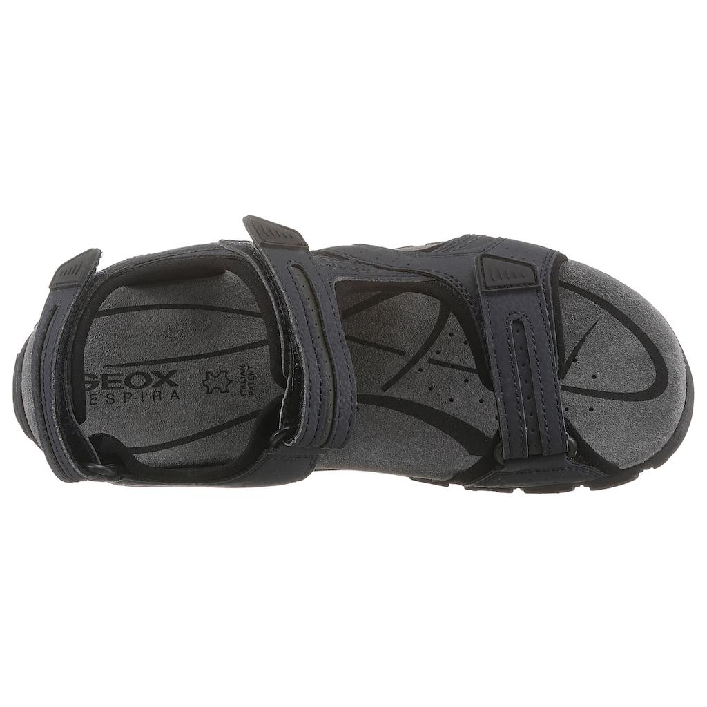 Geox Sandale »UOMO SANDAL STRADA«, mit drei Klettverschlüssen