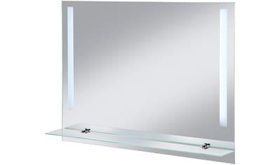 WELLTIME Badspiegel »LED Flex«, LED - Spiegel, 80 x 60 cm, mit Glasablage kaufen