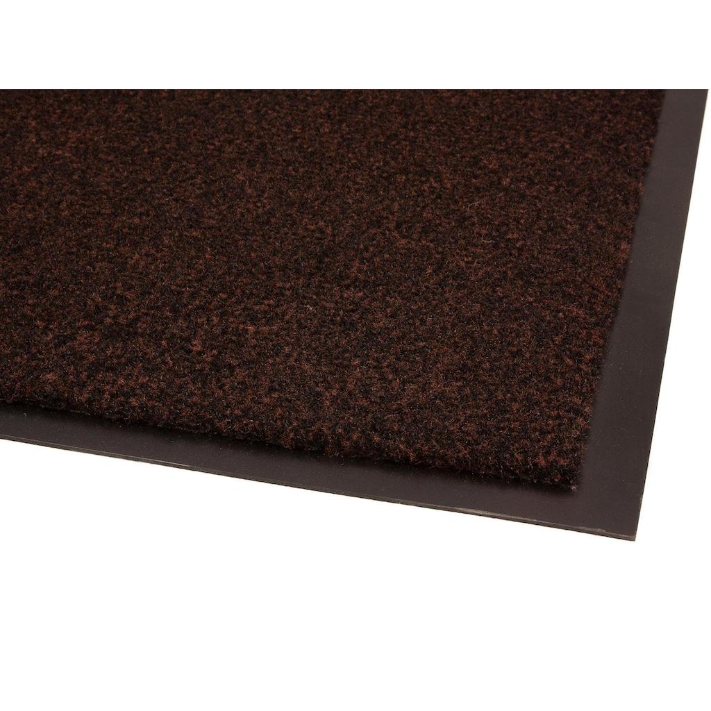 Primaflor-Ideen in Textil Fußmatte »GREEN & CLEAN«, rechteckig, 8 mm Höhe, Fussabstreifer, Fussabtreter, Schmutzfangläufer, Schmutzfangmatte, Schmutzfangteppich, Schmutzmatte, Türmatte, Türvorleger, In- und Outdoor geeignet, waschbar