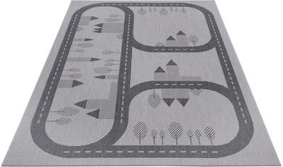 Lüttenhütt Kinderteppich »Conrad«, rechteckig, 3 mm Höhe, Straßen-Spielteppich, In-... kaufen