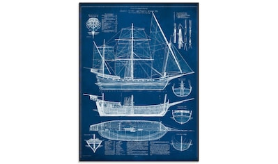 Artland Glasbild »Entwurf für ein Antikes Schiff I« kaufen