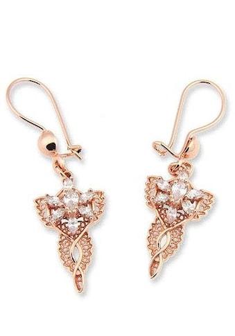 Der Herr der Ringe Paar Ohrhaken »Arwens Abendstern Filigran  -  roségoldfarben, 20003701« kaufen