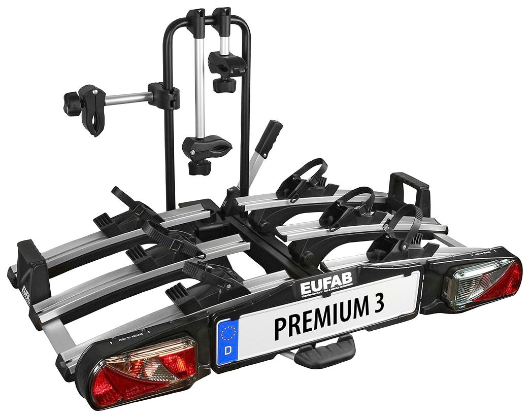EUFAB Kupplungsfahrradträger PREMIUM 3, abschließbar schwarz Fahrradträger Autozubehör Reifen