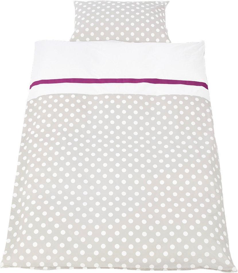 Babybettwäsche Punkte Pinolino | Kinderzimmer > Textilien für Kinder > Kinderbettwäsche | Grau | Pinolino