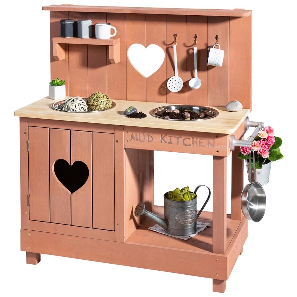 MUDDY BUDDY® Spielküche »Matschküche Herz«, BxLxH: 40x80x90 cm