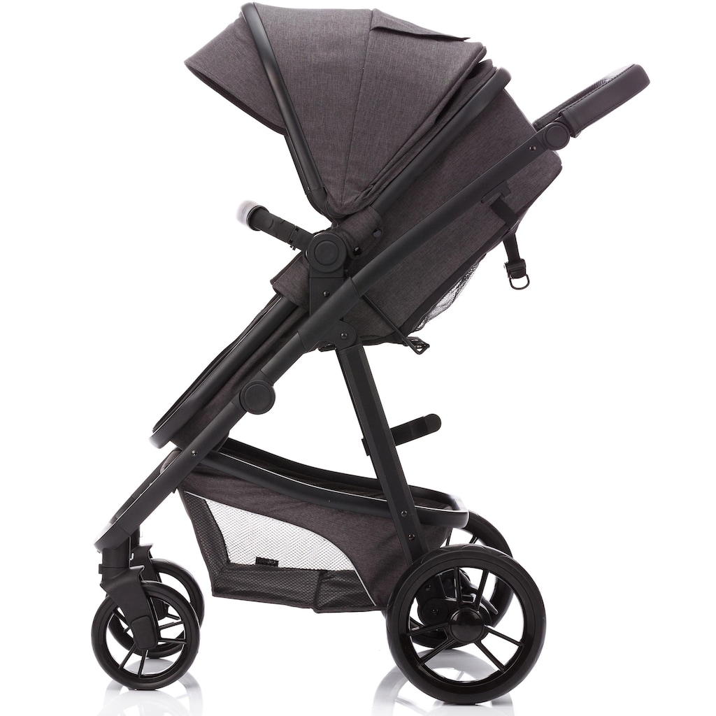 Fillikid Kombi-Kinderwagen »Panther, dunkelgrau«, 22 kg, mit Babyschale; Kinderwagen