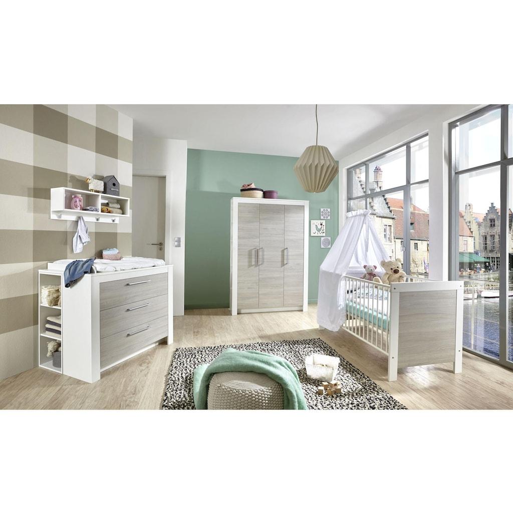 arthur berndt Babyzimmer-Komplettset »Toni«, (Set, 3 St.), Made in Germany; mit Kinderbett, Schrank und Wickelkommode