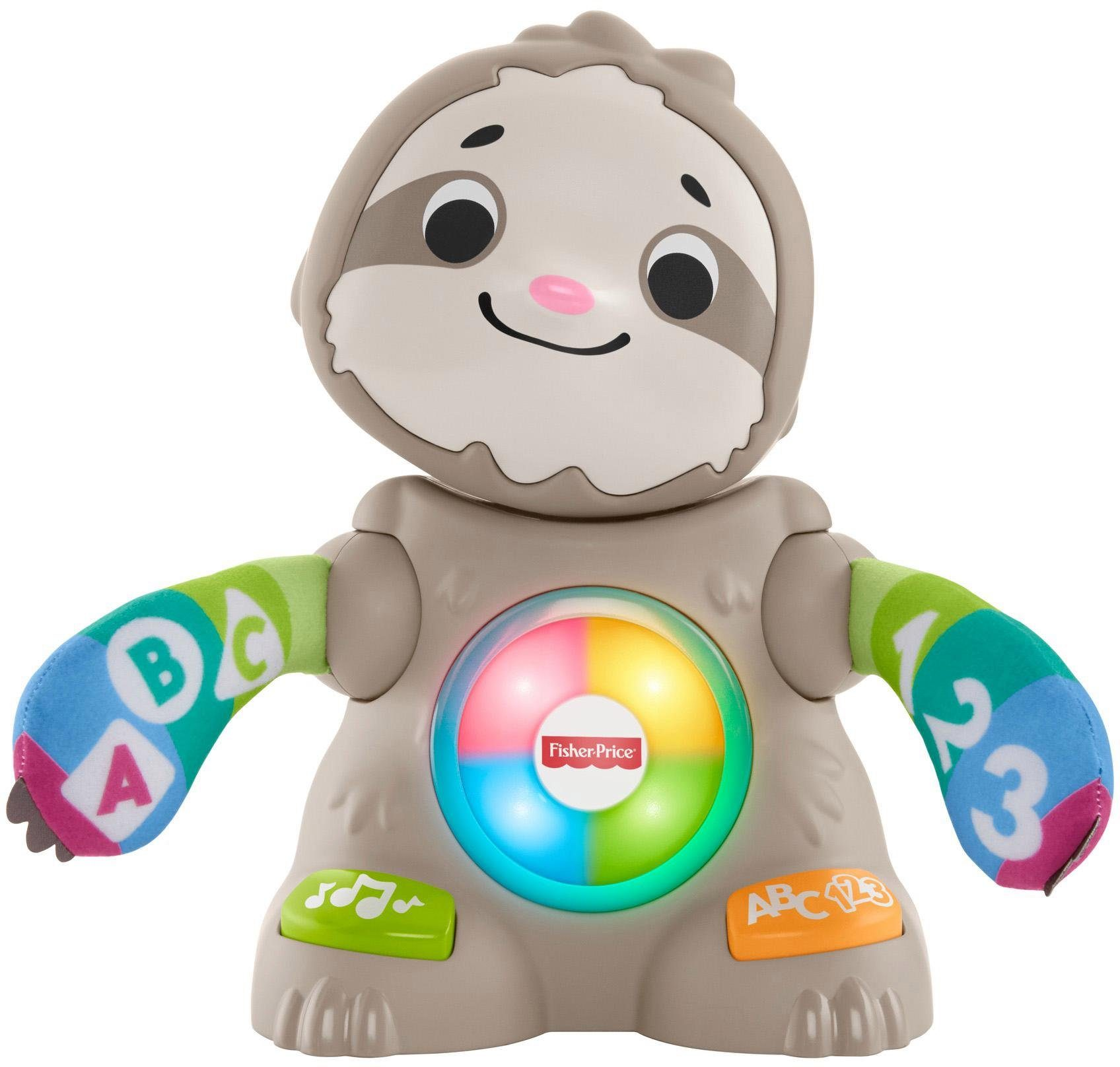Fisher-Price Lernspielzeug, BlinkiLinkis Faultier bunt Kinder Lernspiele Lernspielzeug