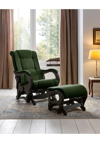 DELAVITA Relaxsessel »Saar«, mit Schaukelfunktion und Schaukelhocker kaufen