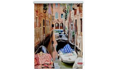 LICHTBLICK ORIGINAL Seitenzugrollo »Klemmfix Motiv Venedig Gondola«, Lichtschutz, ohne... kaufen