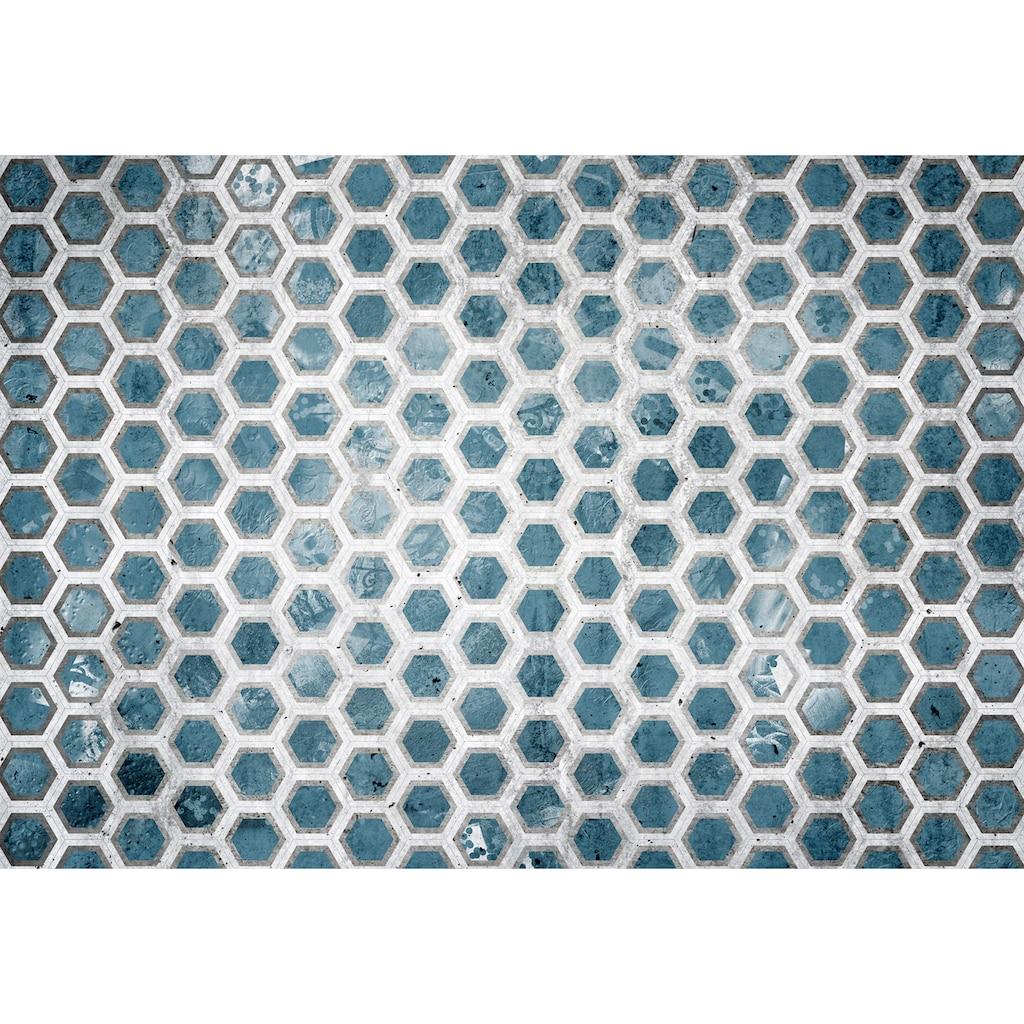 Consalnet Vliestapete »Blaue Sechsecke«, geometrisch