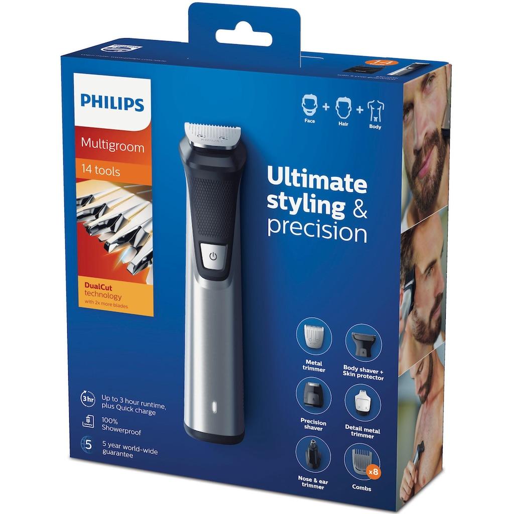 Philips Multifunktionstrimmer »MG7745/15«, 14 Aufsätze, All-in-One Trimmer, 14-in-1 für Gesicht, Körper und Kopfhaare