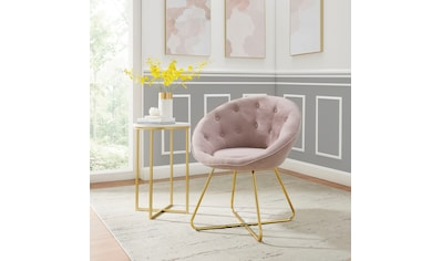 Leonique Loungesessel »Darcie«, mit festmontiertem Sitzkissen, Metallgestell in Chrom... kaufen