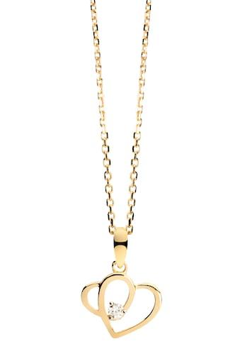 NANA KAY Kette mit Anhänger »Gold, Herzen, FG104«, mit Zirkonia (synth.) kaufen