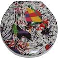 ADOB WC-Sitz »Nizza Grafitti«, sehr stabil, universal passend
