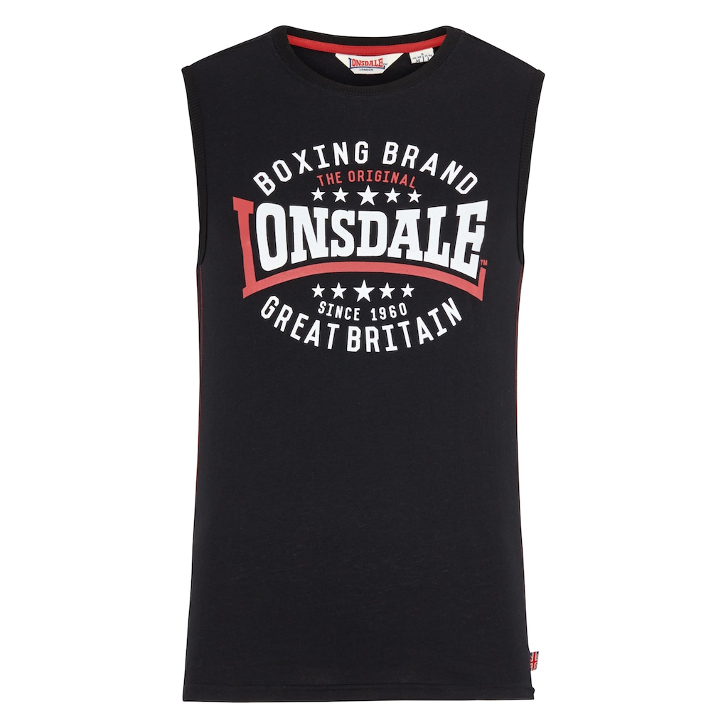 Lonsdale Shirttop »ST.AGNES«, mit coolem Frontdruck