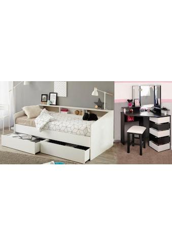 Parisot Jugendzimmer-Set »Sleep«, (Set, 3 St.), Stauraumbett, Schminktisch und Hocker kaufen