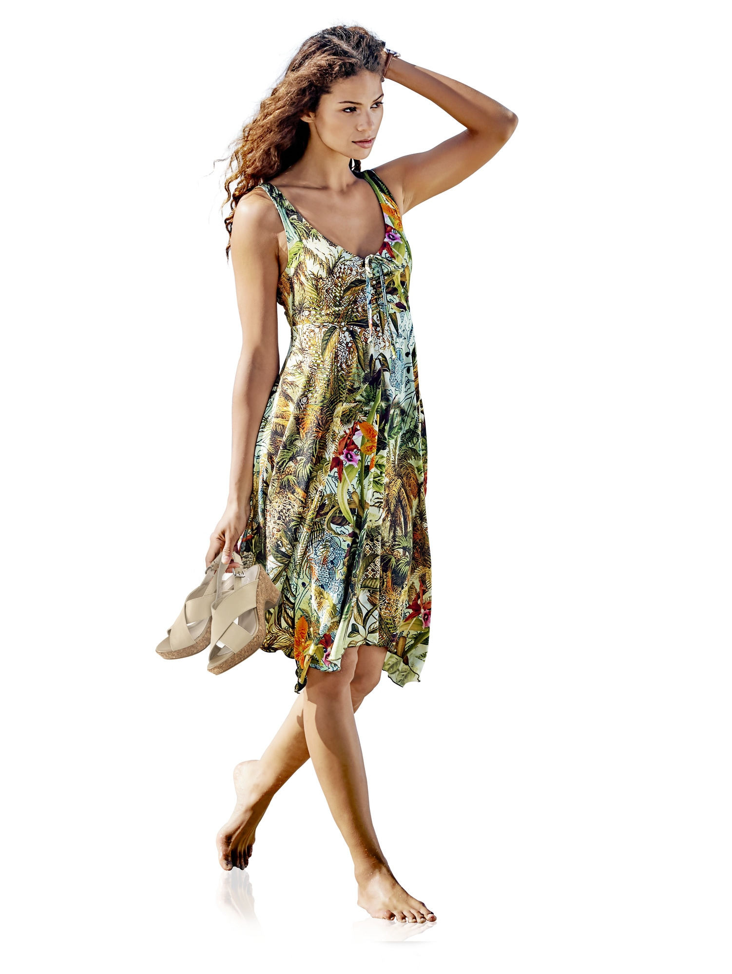 Druckkleid mit Blumen | Bekleidung > Kleider > Druckkleider | Ashley Brooke By Heine