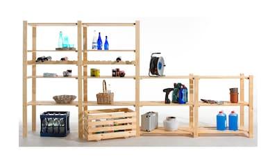 Regal »Grundregal mit 3 Böden, Holz-Allzweckregal«, B/T/H: 85x40x90 cm, mit 3 Böden kaufen