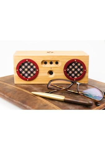 Schwaiger Tragbarer Bluetooth Lautsprecher Holz Bambus Bamboo Boxen »Aux Mikrofon mobil« kaufen
