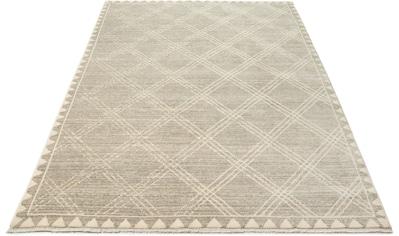 Home affaire Teppich »Erik«, rechteckig, 10 mm Höhe, mit Fransen, Wohnzimmer kaufen