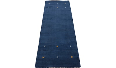 carpetfine Läufer »Gabbeh Uni«, rechteckig, 15 mm Höhe, reine Wolle, handgewebt, Gabbeh Tiermotiv, Wohnzimmer kaufen